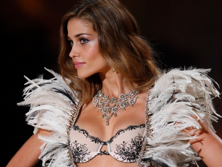 A model walks the runway during the Victoria's Secret Fashion Show at
